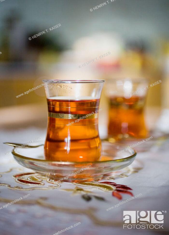 Stock Photo: Turkish tea.