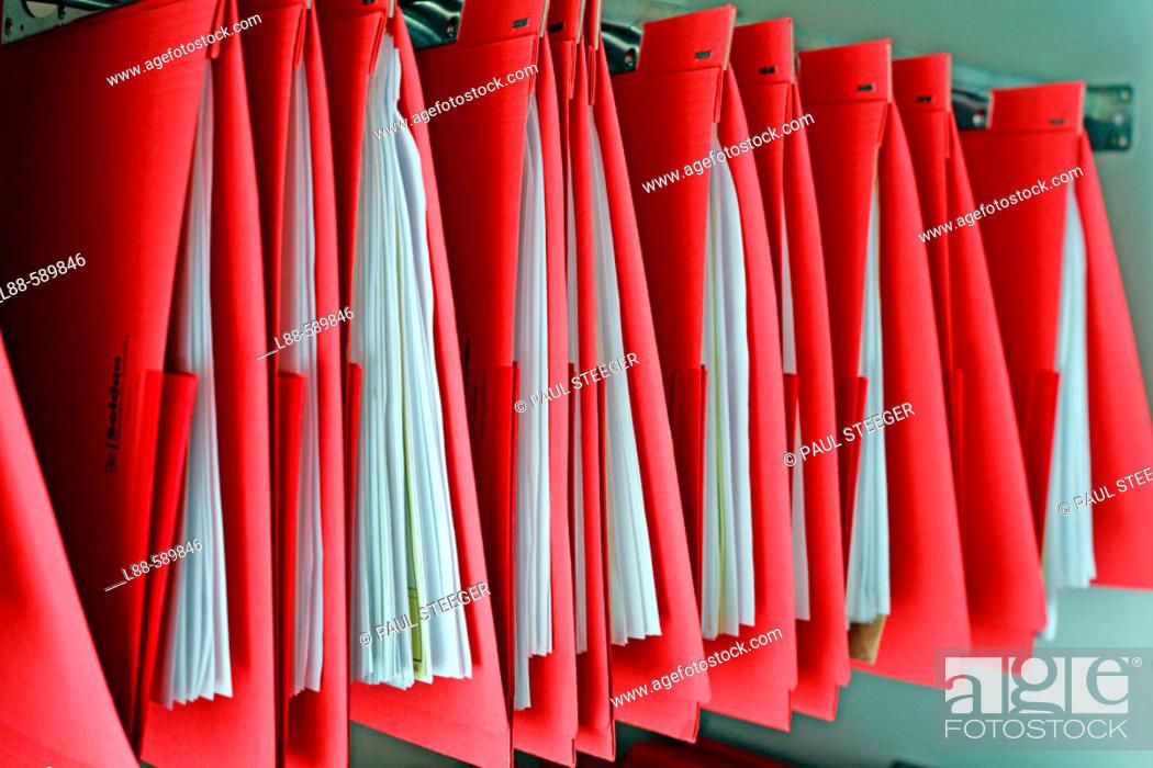 Stock Photo: Suspension Files.