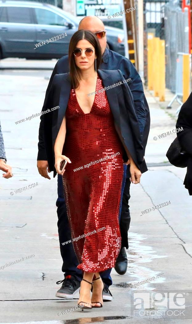 Stock Photo: Sandra Bullock arrives for appearance on Jimmy Kimmel Live! Featuring: Sandra Bullock Where: Hollywood, California, United States When: 30 May 2018 Credit: WENN.