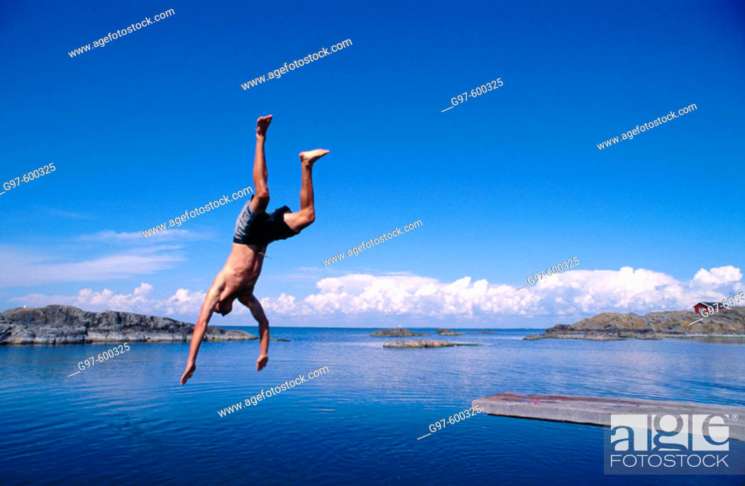 Stock Photo: Diving in.
