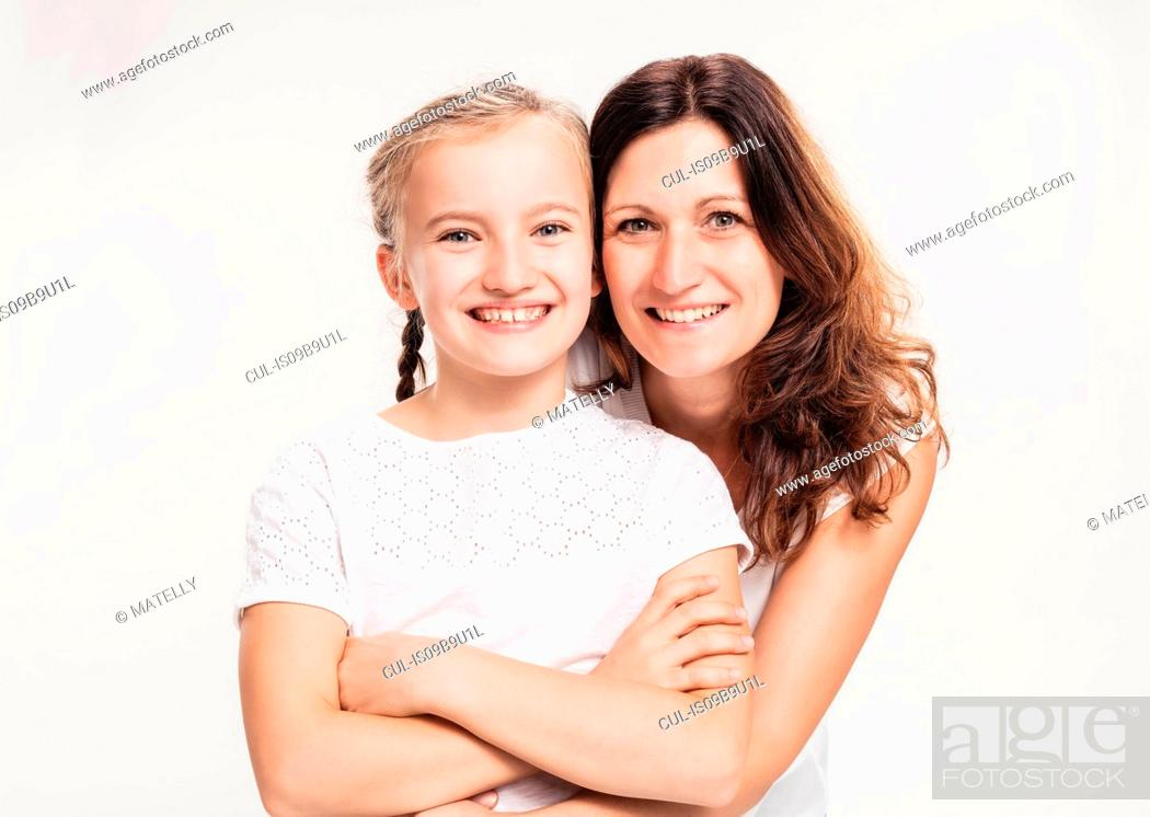 Stock Photo: Portrait of mother with daughter.