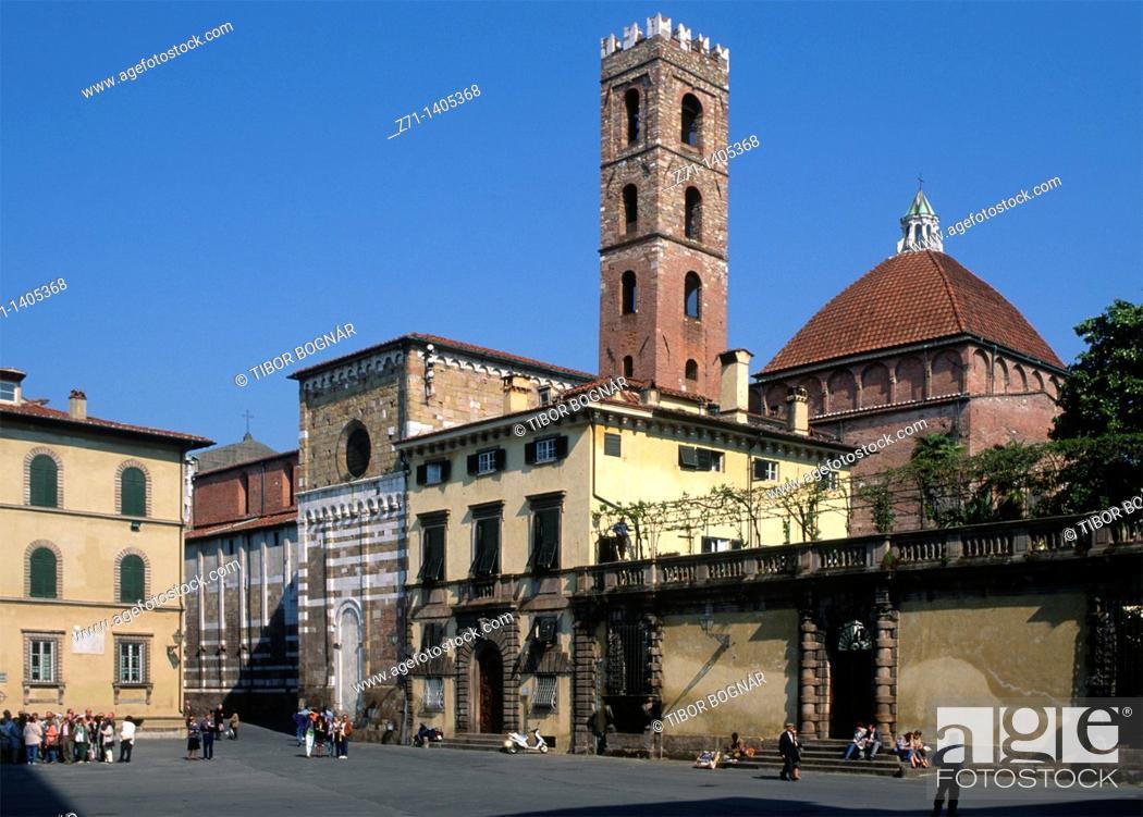 Stock Photo: Italy, Tuscany, Lucca, S  Giovanni Church,.