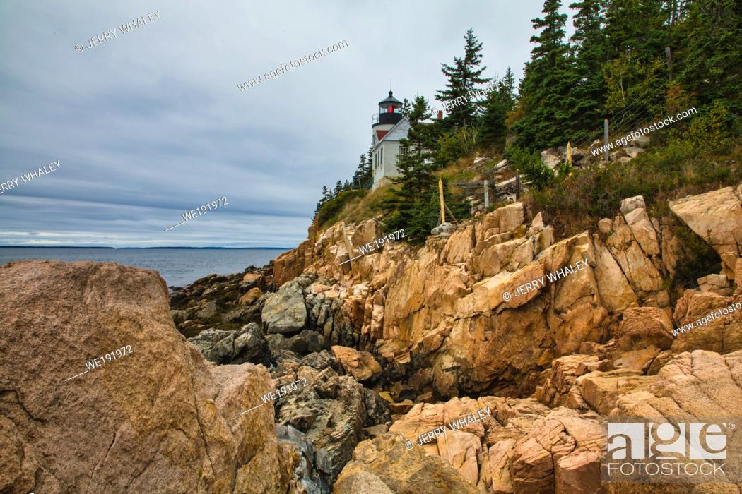 Stock Photo: Bass Harbor Lighthouse, Acadia National Park, Maine.