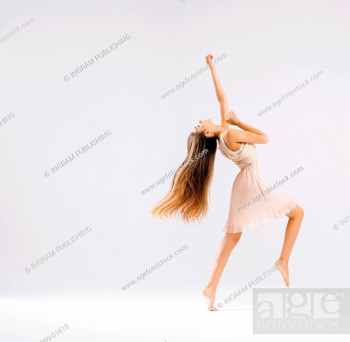 Stock Photo: Slim and talented ballet dancer.