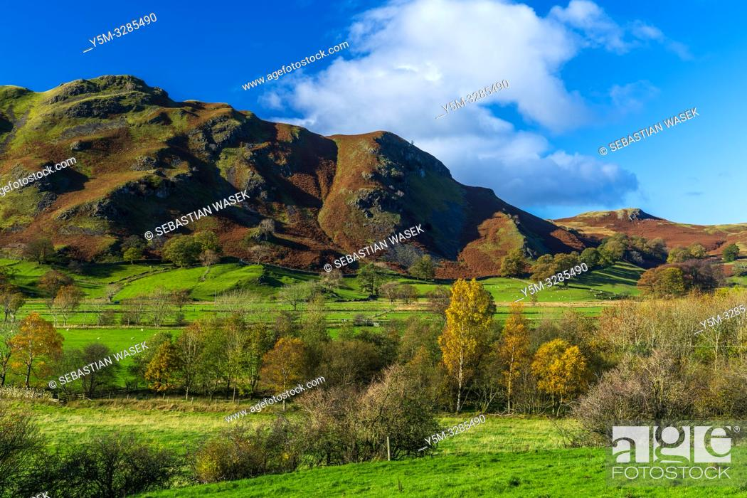 Stock Photo: Cumbrian landscape near Threlkeld, Lake District National Park, Cumbria, England, UK, Europe.