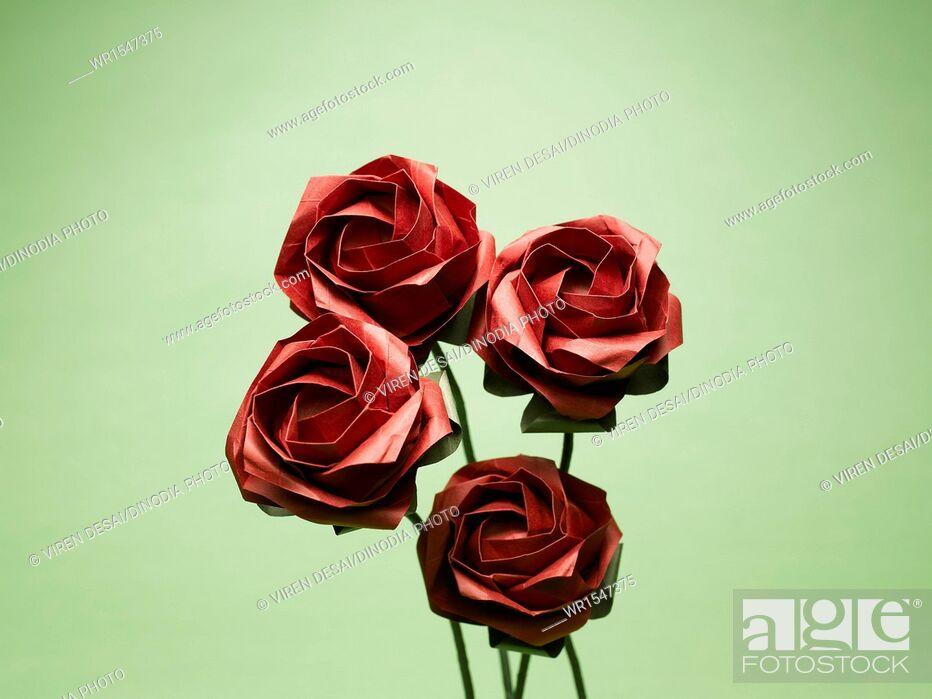 Imagen: origami roses India Asia.