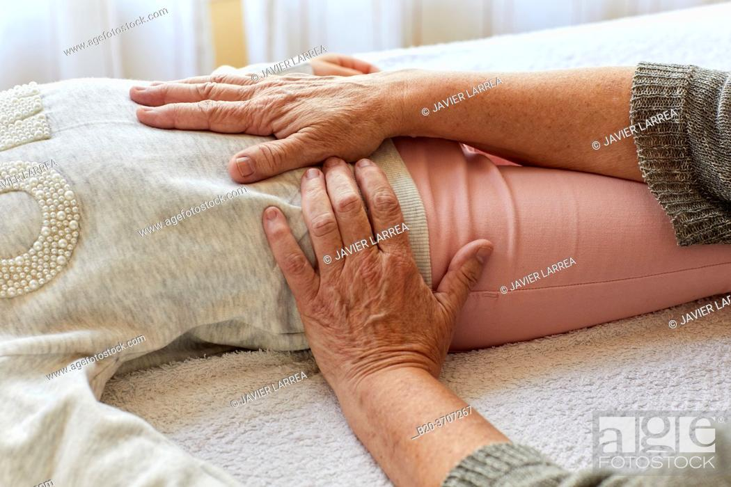 Stock Photo: Osteopathy. Osteopath manipulating a patient.