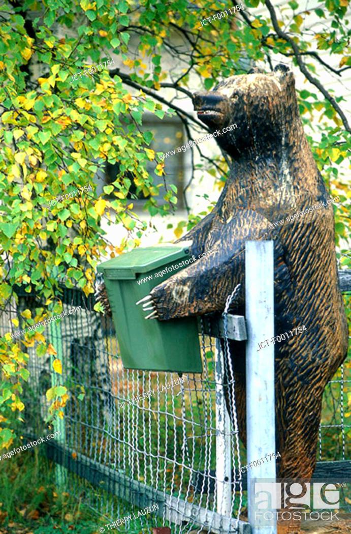 Stock Photo: Finland, Lapland, mail box at Rovaniemi.
