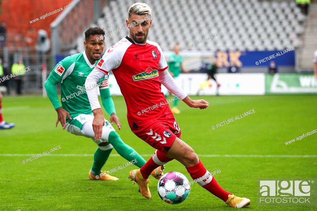 Imagen: 17 October 2020, Baden-Wuerttemberg, Freiburg im Breisgau: Football: Bundesliga, SC Freiburg - Werder Bremen, 4th matchday, Black Forest Stadium.
