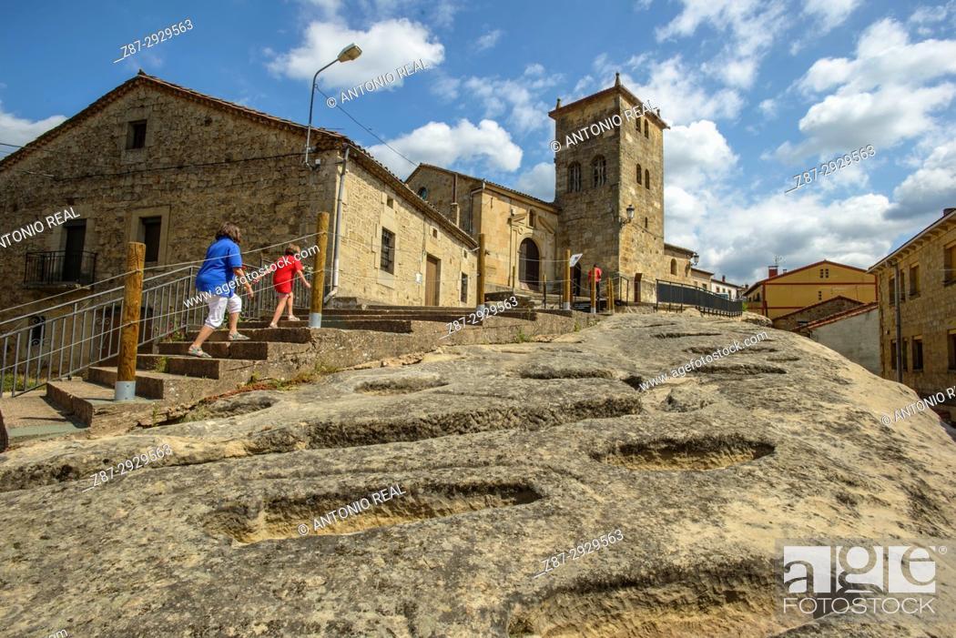 Stock Photo: Necropolis. Regumiel de la Sierra. Alto Arlanza. Burgos province, Castile-Leon, Spain.