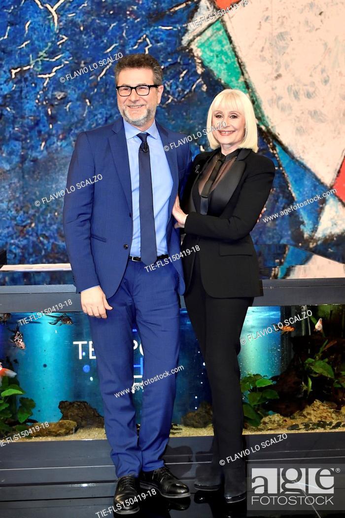 Imagen: Fabio Fazio, Raffaella Carra' during the tv show Che tempo che fa, Milan, ITALY-14-04-2019.
