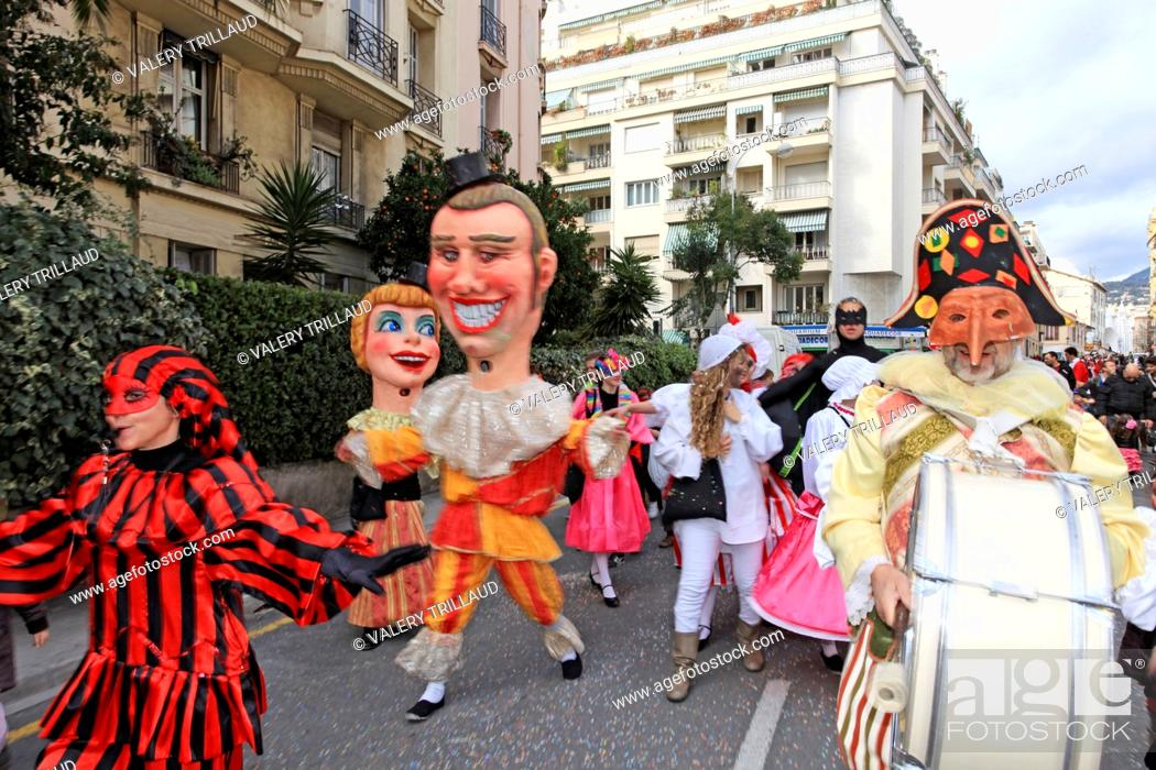 Stock Photo: The carnival of the childs, Nice, Alpes-Maritimes, Côte d'Azur, French Riviera, France.