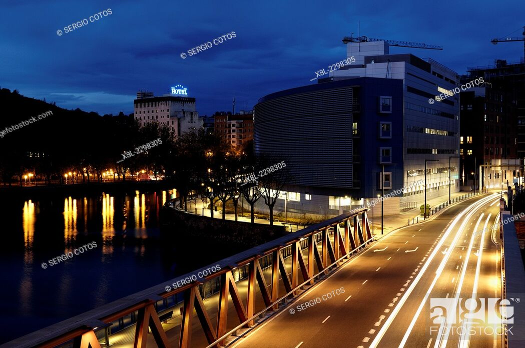 Stock Photo: night view in san sebastian.