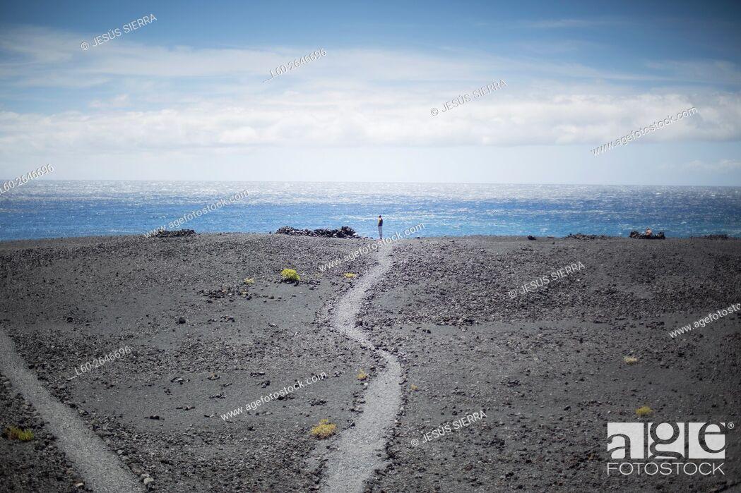 Stock Photo: Playa nueva near Fuencaliente lighthouse. , la Palma, Canary islands, Spain.