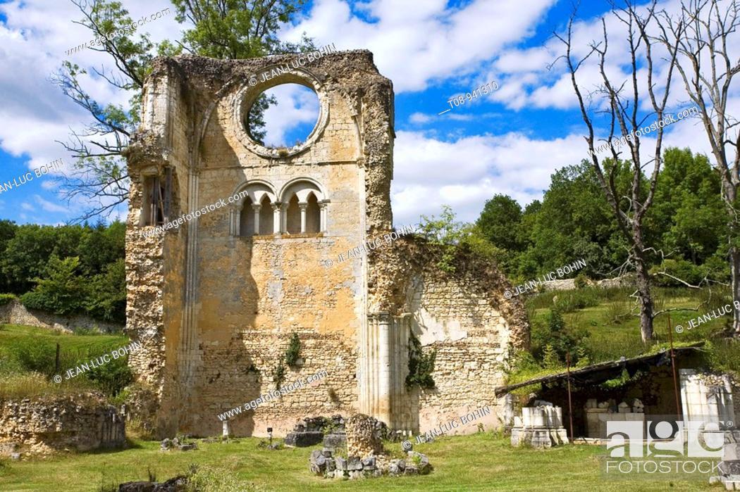 Imagen: france, normandie, eure : abbaye, Mortemer: ruines.