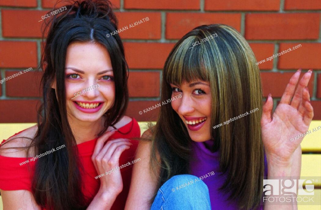 Stock Photo: Women having fun.