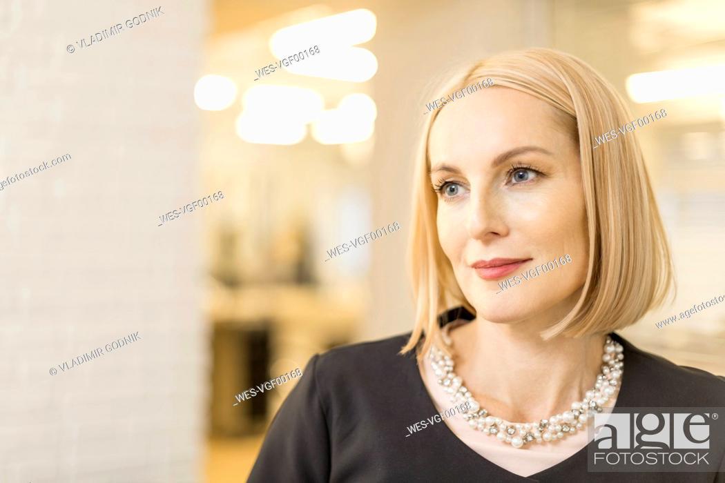 Stock Photo: Portrait of beauty salon owner.
