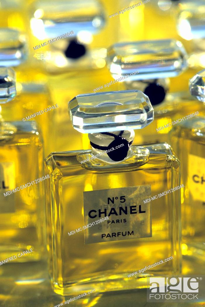 Perfume Bottles Of Chanel N 5 Stock Photo Picture And Rights