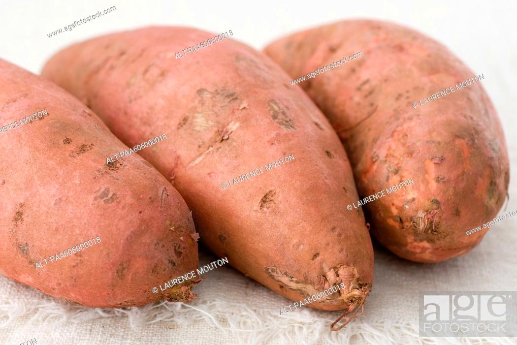 Stock Photo: Sweet potatoes.