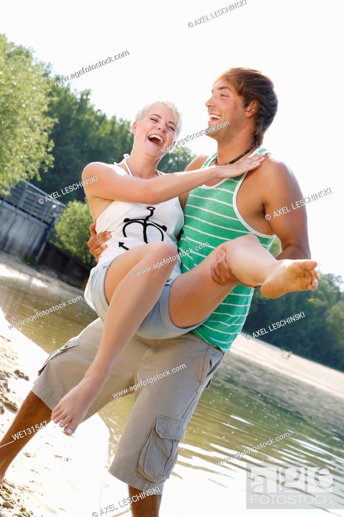 Stock Photo: couple enjoying summer.