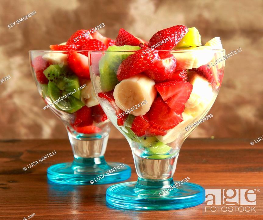 Stock Photo: fruit salad.