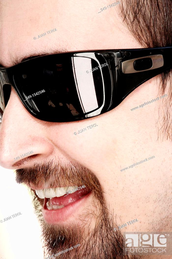 Stock Photo: close-up men with sunglasses.