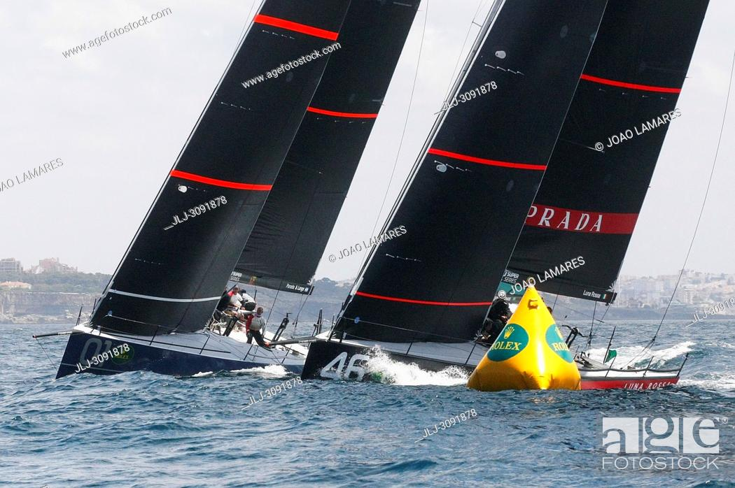 Stock Photo: Rolex TP 52 World Championship, TP52 Super Serires, Cascais, Portugal | Photos by Joao Lamares / JLpress / AGE fotostock.