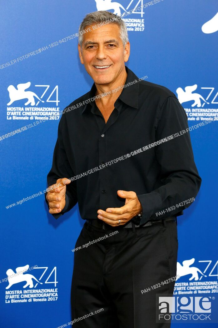 Stock Photo: George Clooney during the 'Suburbicon' photocall at the 74th Venice International Film Festival at the Palazzo del Casino on September 02, 2017 in Venice.