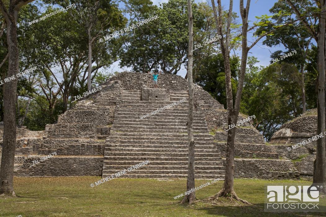 Stock Photo: Cahal Pech Mayan ruins in San Ignacio Belize.