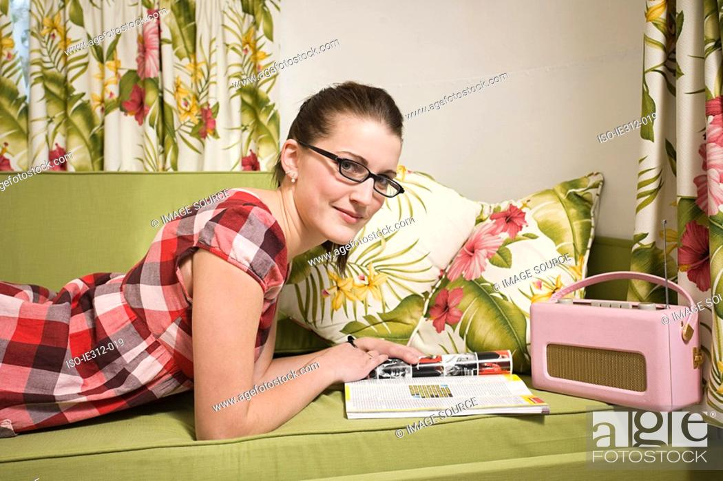 Stock Photo: Portrait of a teenage girl.