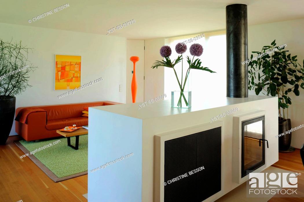 Stock Photo: House, living room, Innsbruck, Tyrol, Austria.