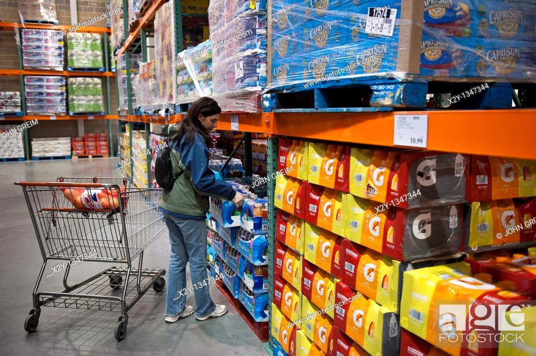 Stock Photo: Costco wholesale shopping club.