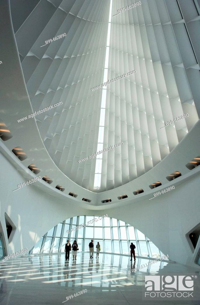Stock Photo: Quadracci Pavilion, Art Museum, Milwaukee, Wisconsin, USA.