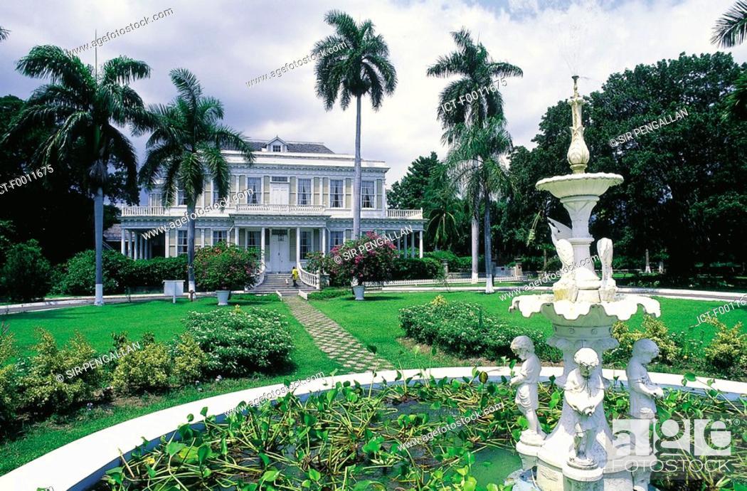 Stock Photo: Jamaica, Kingston, historical Devon house.