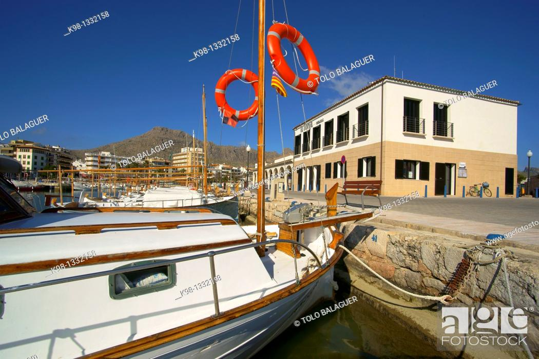 Stock Photo: Llauts, typical fishing boats. Port de Pollensa, Majorca, Balearic islands, Spain.