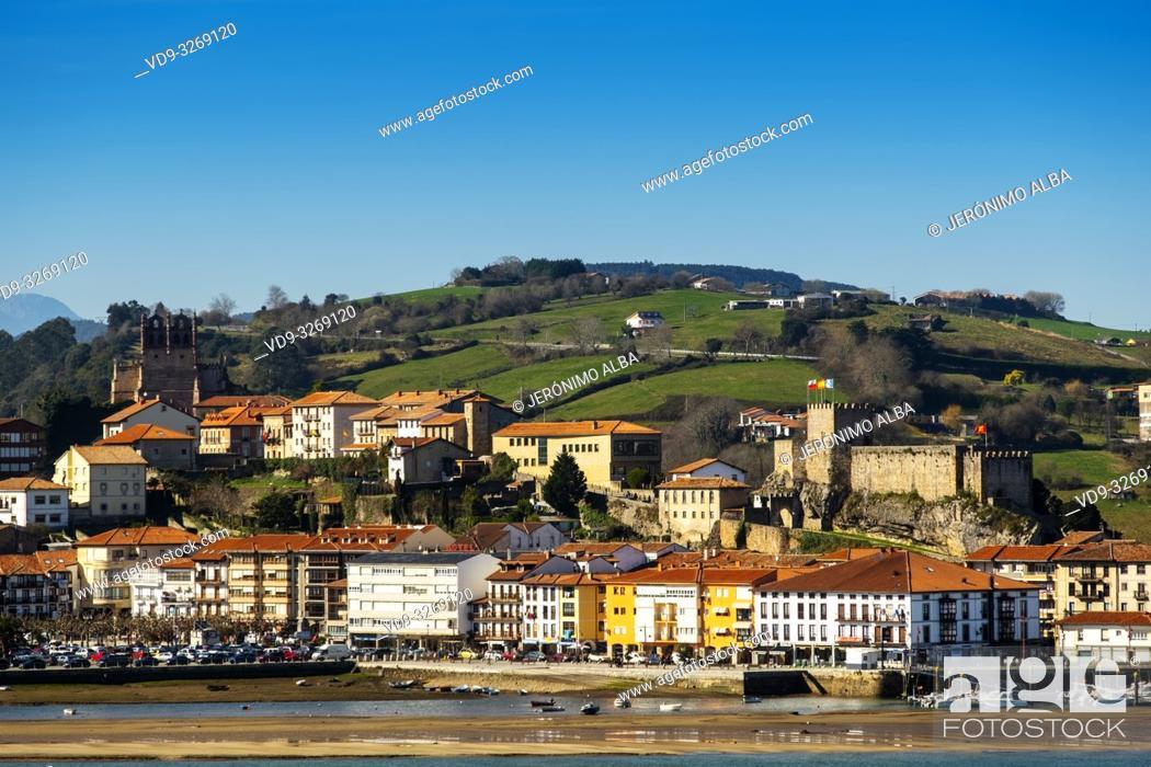 Stock Photo: San Vicente de la Barquera. Cantabrian Sea. Cantabria, Spain. Europe.