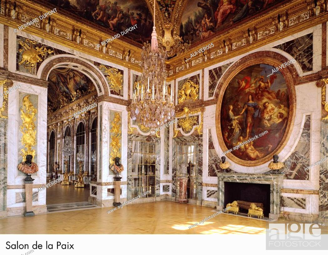 Stock Photo: Palace of Versailles - Salon de la Paix.
