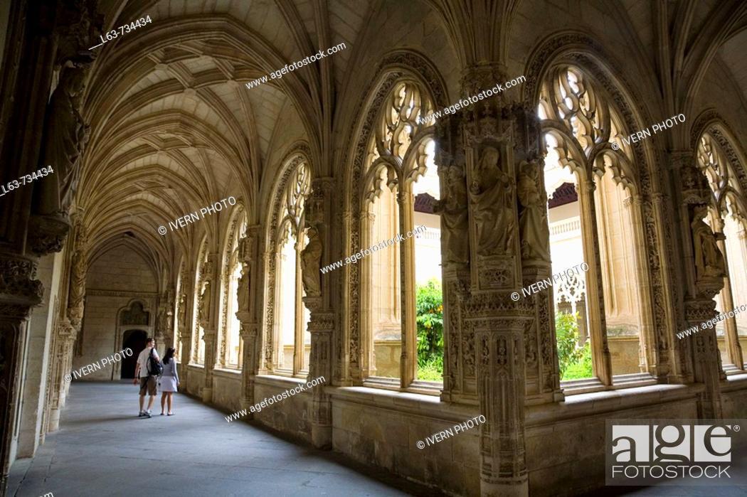 Stock Photo: Cloister of San Juan de los Reyes Monastery  (Juan Guas, 15th century), Toledo. Castilla-La Mancha, Spain.