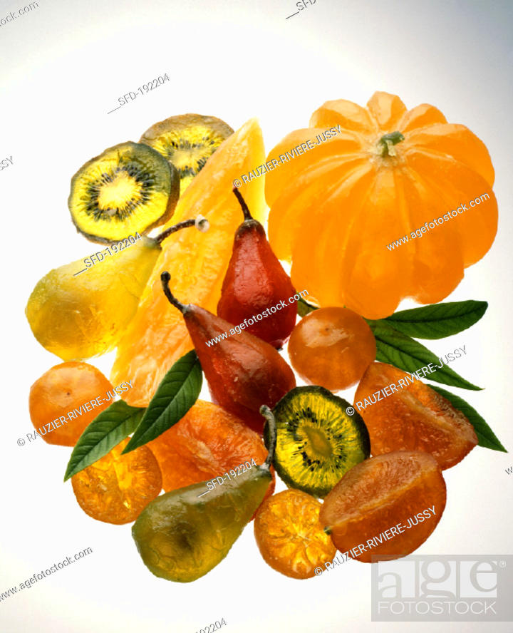 Assorted Candied Fruits For Zuppa Romana Stock Photo Picture