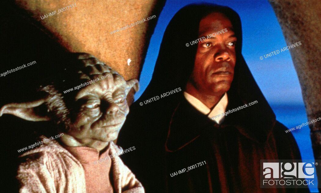 Stock Photo: Star wars, (STAR WARS: EPISODE 1 - THE PHANTOM MENACE) USA 1999, Regie: George Lucas, YODA, SAMUEL JACKSON.