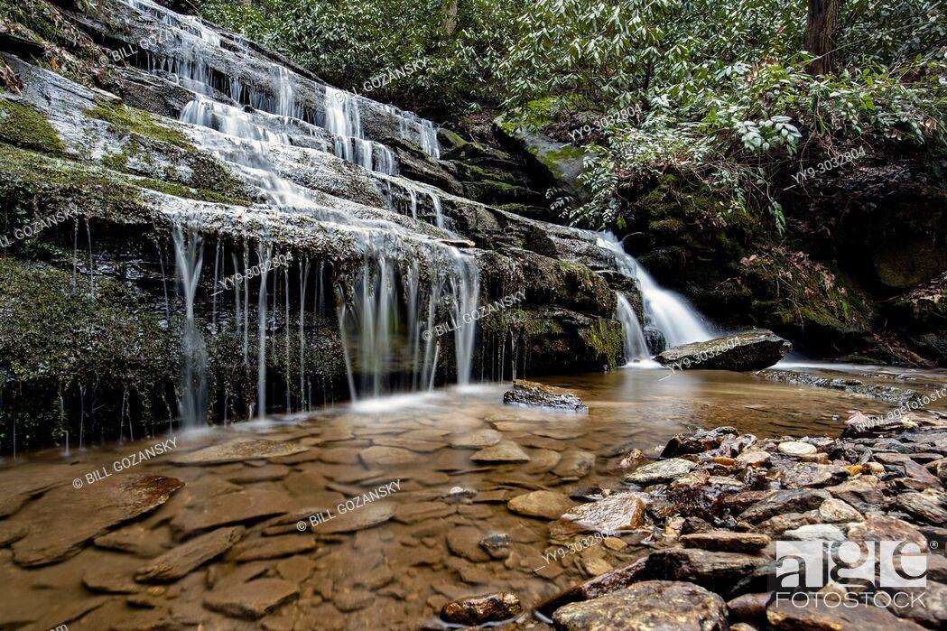 Stock Photo: Key Falls - near Brevard, North Carolina, USA.
