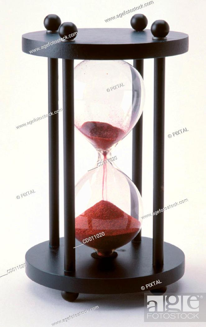 Stock Photo: Hourglass.