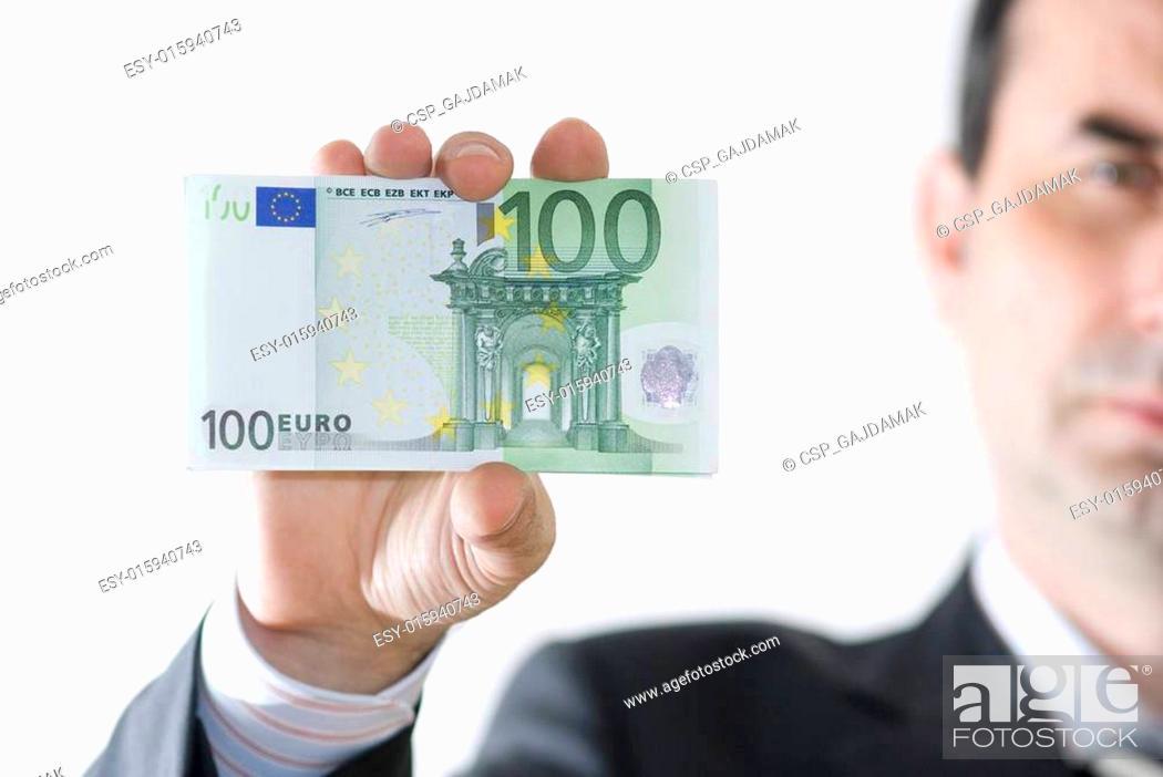 Stock Photo: money in hands.