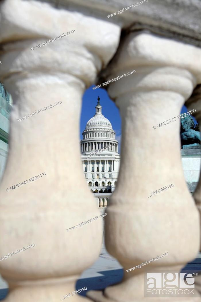 Stock Photo: United States Capitol, Washington D.C., USA.