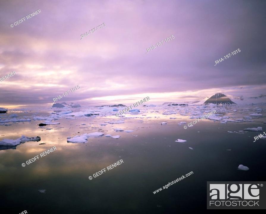 Imagen: Evening light, Antarctica, Polar Regions.
