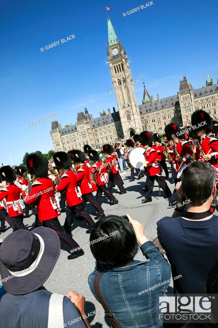 Stock Photo: Changing of the Guard, Parliament Hill, Ottawa, Ontario, Canada.