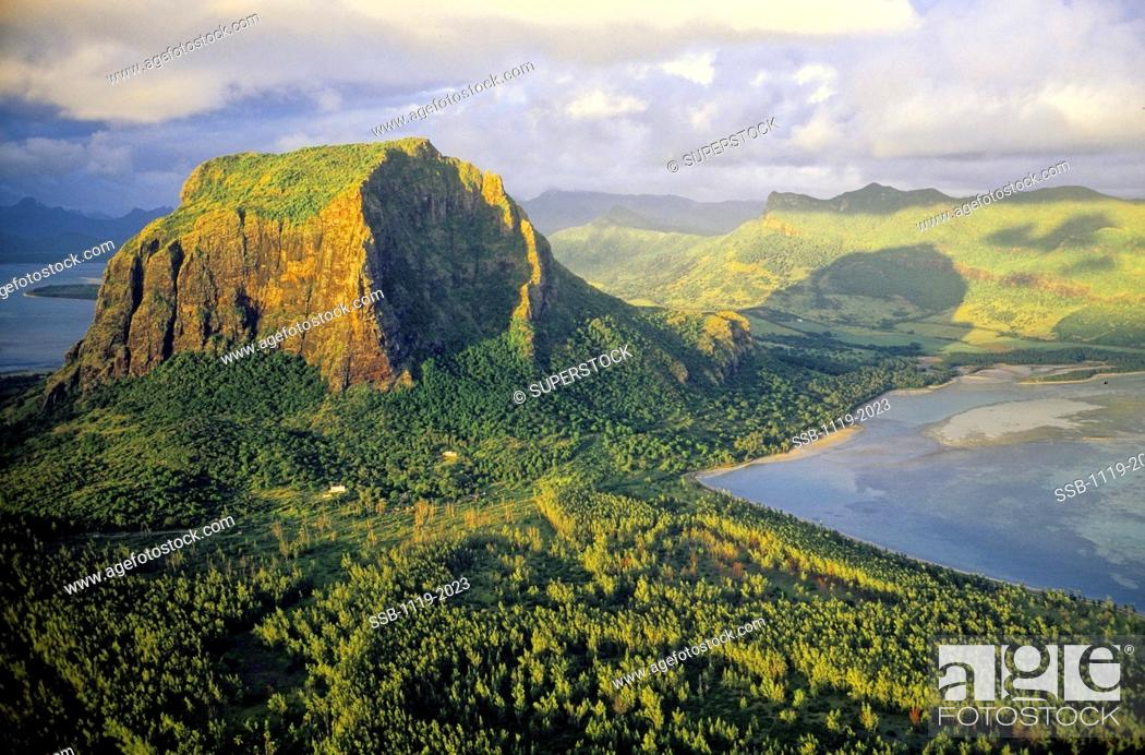 Stock Photo: Morne Brabant Mauritius.