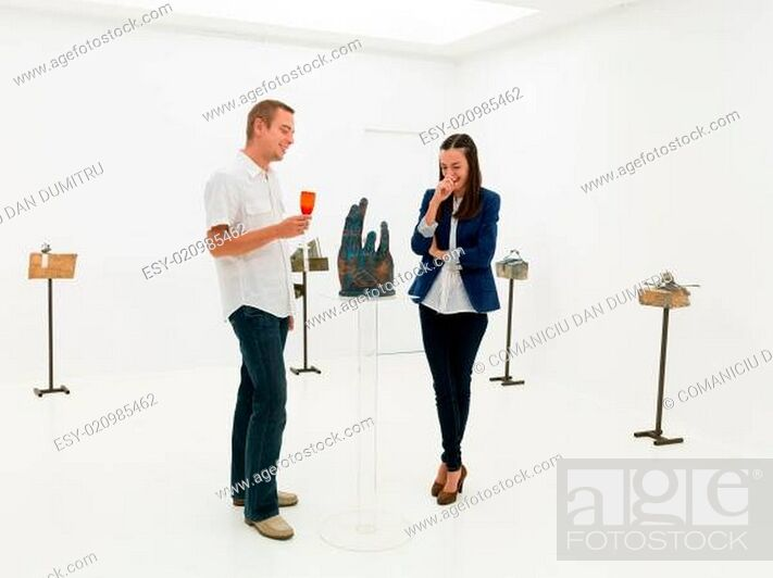 Stock Photo: this sculpture is funny.