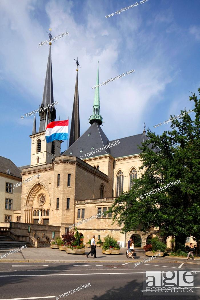 Stock Photo: Cathedral of our dear woman, Luxembourg city, Luxembourg,.