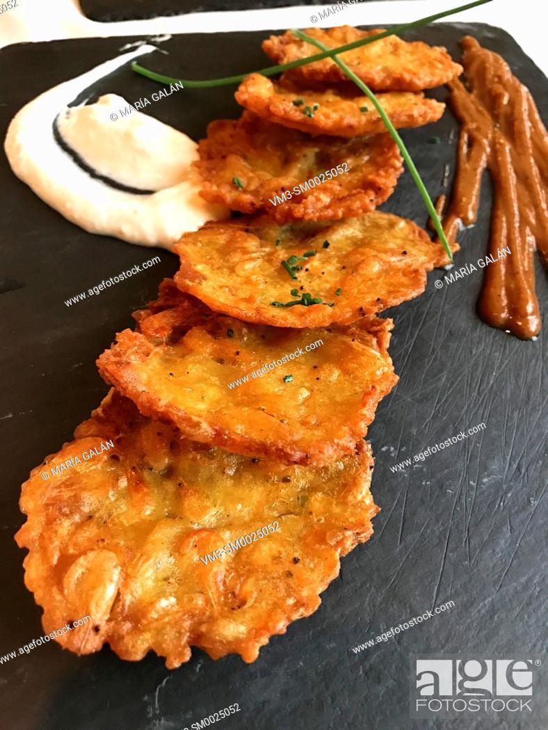 Stock Photo: Tortitas de camarones, traditional dish from Cadiz.